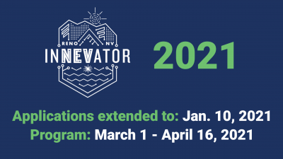 2021 InNEVator application Banner with new date. All information in text below.